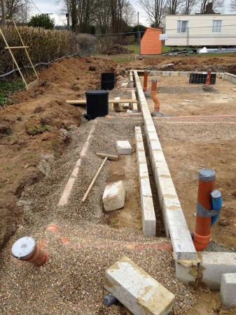 Ground level blockwork