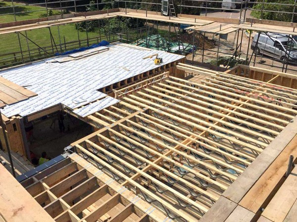 Installation of floor joists