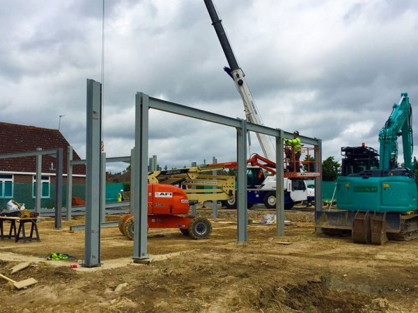 New steelwork at Edenbridge