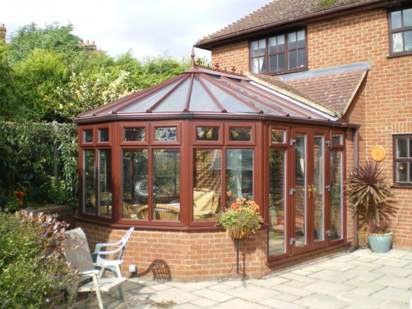Brown uPVC Conservatory