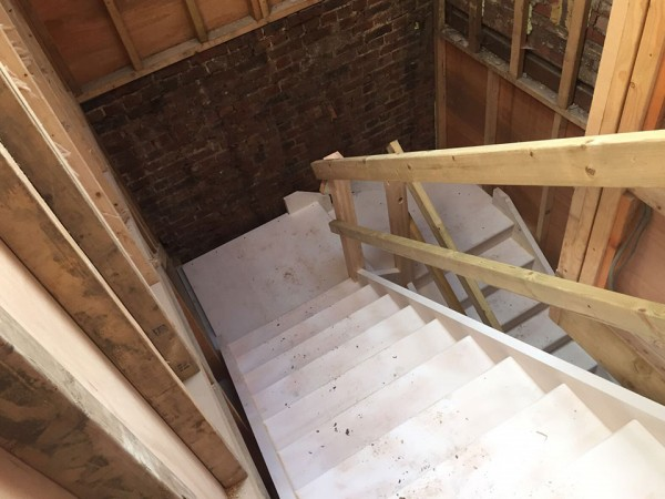 Installation of new staircase